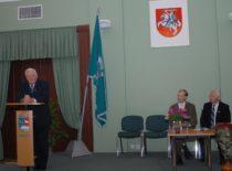 Statybinių medžiagų katedros 80-metis, 2002 m. Nuotraukoje: kalba Ministras pirmininkas ir KTU Garbės daktaras A. M. Brazauskas.