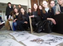 Studentų piešimo darbų peržiūra, 2009 m.
