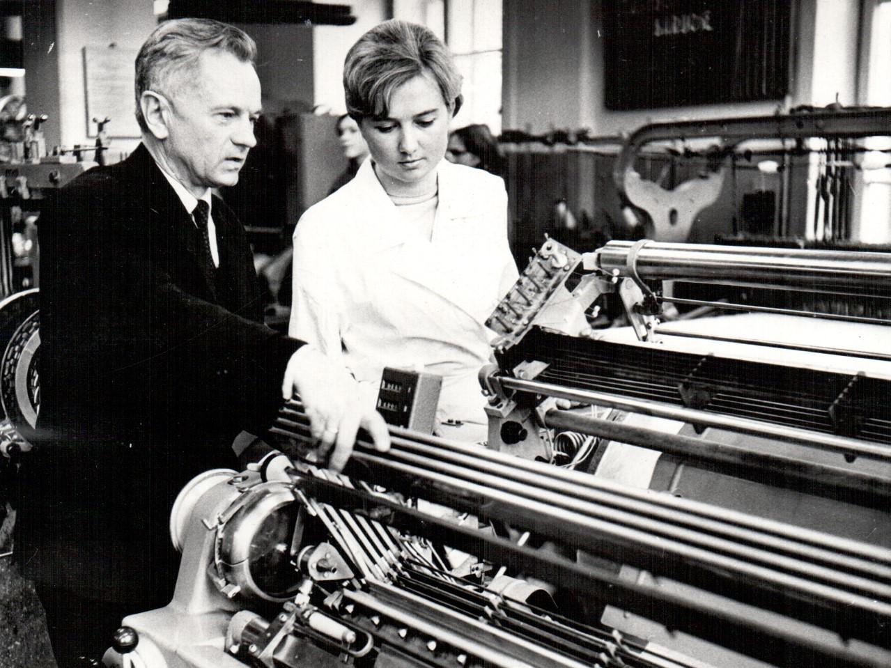 Prof. A. Matukonis su aspirante L. Miliukaite, 1970 m.