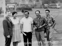 Tarptautinėje konferencijoje Kijeve. Iš kairės K. Ragulskis, V. Ragulskienė, V. Sergejev, A. Kobrinskij, A. Kobrinskij, 1968 m.