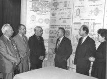 Ukrainos MA narys A. Bogoliubov, V. Dubrovskij, S. Koževnikov, K. Ragulskis, A. Besonov, V. Ragulskienė konferencijos Kaune metu, 1984 m.