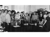 Po pasitarimo KPI Vibrotechnikoje, 1981 m.