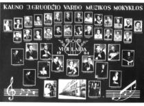 Kauno J. Gruodžio muzikos mokyklos VI laidos vinjetė, 1954 m.